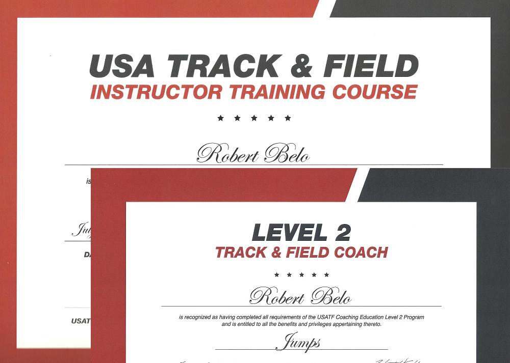 USATF Level 2 Certification & ITC